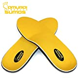 Padded Orthotics for Flat Feet by Samurai Insoles Sumos- Perfect for Work Boots