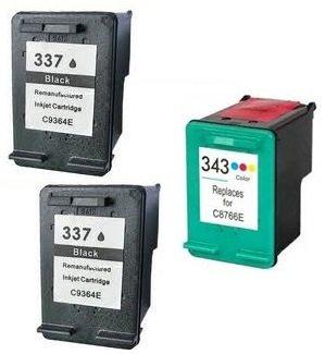 Prestige Cartridge HP 337 - Cartuchos de tinta compatible con Impresora Photosmart, color negro/color