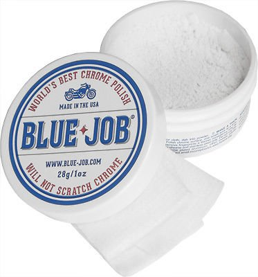 Blue Job Chrome Exhaust Polish (Removes Exhaust Pipe Bluing) - 28 Gram Tub
