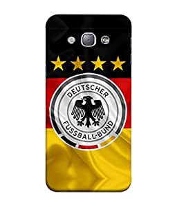 ColorKing Football Germany 16 Multicolor shell case cover for Samsung A8