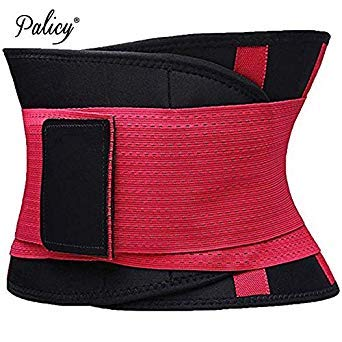 05bd9db186 Palicy Belly Slimming Belt Waist Cincher for Women Men Waist Trainer  Shapewear Tummy Shaper Corset Girdle Modeling Strap  USPS  Color Red Size  L  Amazon.in  ...