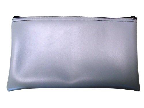Vinyl Zipper Coin (Vinyl Zipper Bags (Leatherette) Small, Compact Zippered Pouches | Portable Travel Utility | Check Wallet, Toiletries, Makeup, Cosmetics, Tools | Men, Women | Grey)