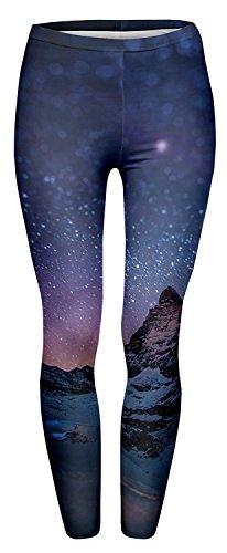 Tamskyt Womens Hot Sale Digital Printed Women's Full-Length Yoga Workout Leggings Thin Capris (Starry Night)