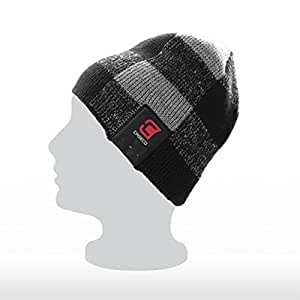 Caseco Blu-Toque Dual Layered Bluetooth Knit Hat with Built-In Headset (Checkered)