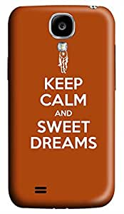 Samsung Galaxy S4 I9500 Hard Case - Keep Calm And Sweet Dreams Galaxy S4 Cases by supermalls
