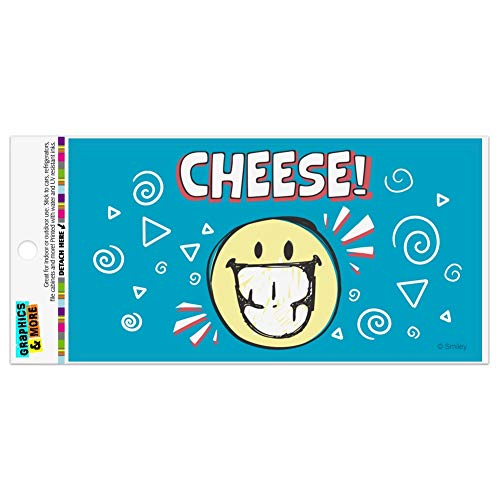 (Graphics and More Cheese Smile Grin Smiley Face Emoticon Officially Licensed Automotive Car Refrigerator Locker Vinyl Magnet)