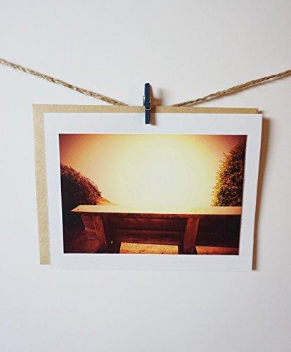 Bench Greeting Card - Winston Churchill Encouragement photo greeting card