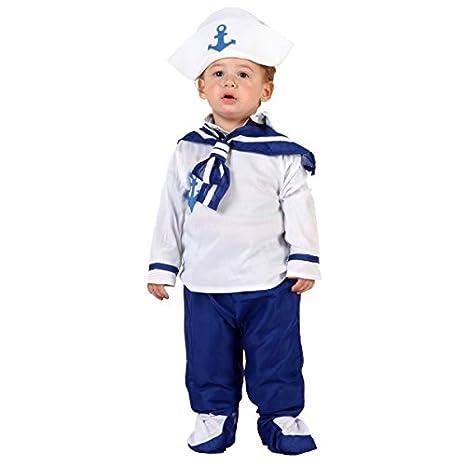 Costume marinaio bebè 0 6 mesi (50 68)  Amazon.it  Giochi e giocattoli ebcc20c79e3a