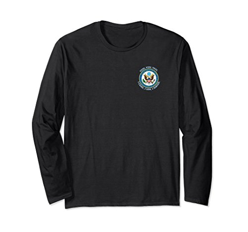 Unisex Us State Department Emblem Lon Sleeve T Shirt 2Xl Black