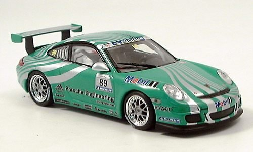 Porsche 997, GT3 Racing, No.89, grün, Modellauto, Fertigmodell, Minichamps 1:43