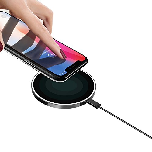 Wireless Charger, QI Suitable Wireless Charging Pad for Galaxy Note 8/5 S8/S8+ S7/S7 Edge S6 Edge Plus, Standard Charge for iPhone X 8 8Plus - Hi Tech Adapter Ring