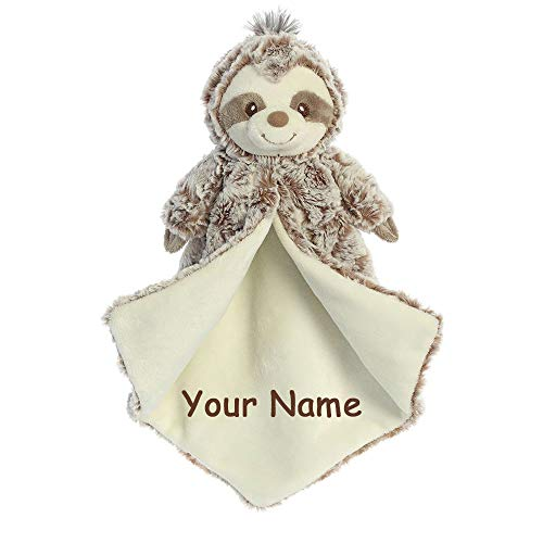 Ebba Personalized Sammie Sloth Luvster Plush Blanket for Baby Boy or Baby Girl with Custom Name - 14 -