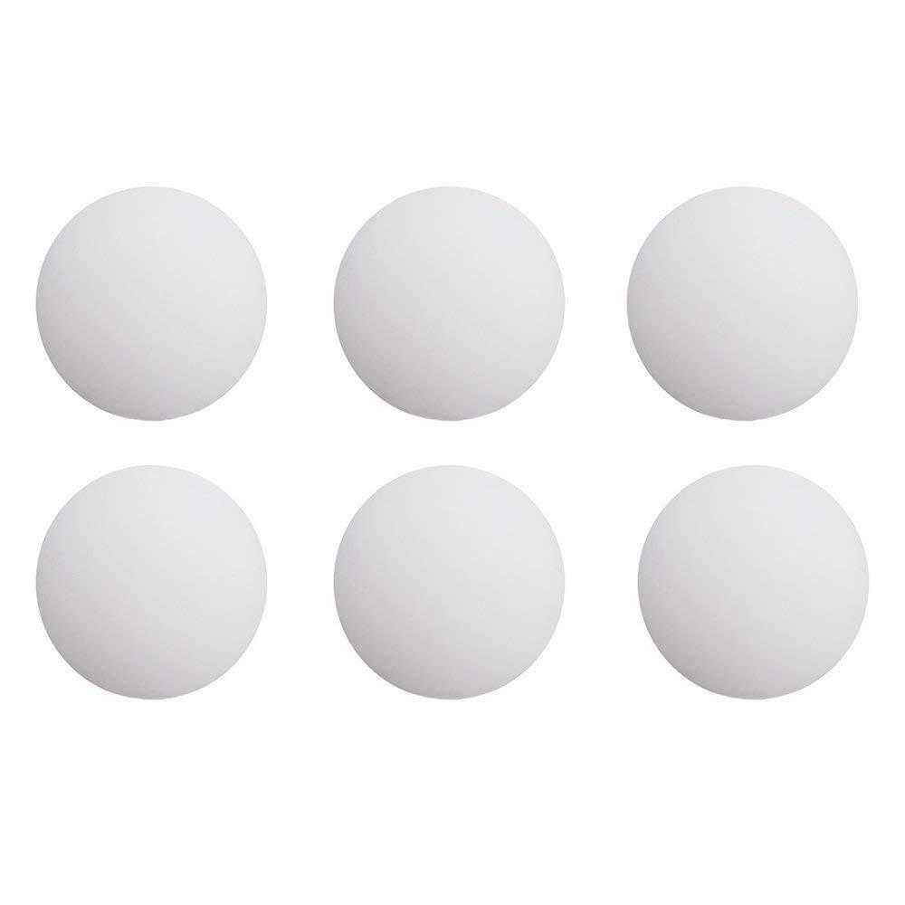 Bronagrand Lot de 6Assiettes Bouclier de protection Poignée de porte murale en silicone Blanc rond Blanc Autocollant (4cm de diamètre)