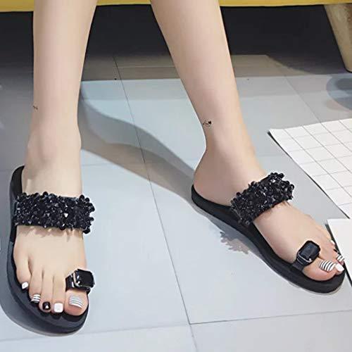 Amazon.com | AOJIAN Shoes Womens Sandals Summer Rhinestone Open Toe Non-Slip Flip Flop Slide Slipper Clog Mule | Flip-Flops
