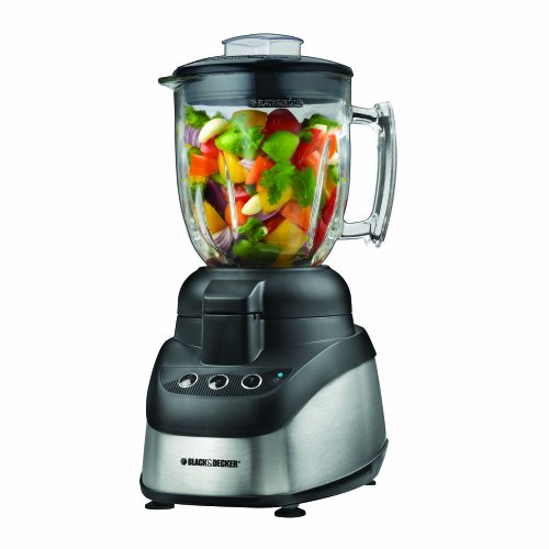 Black And Silver Kitchen Appliances: Black & Decker FP2620S Wide-Mouth Food Processor & Blender