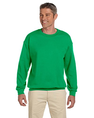 Gildan 18000 - Classic Fit Adult Crewneck Sweatshirt Heavy Blend - First Quality - Irish Green - Medium (Best Quality Crewneck Sweatshirts)