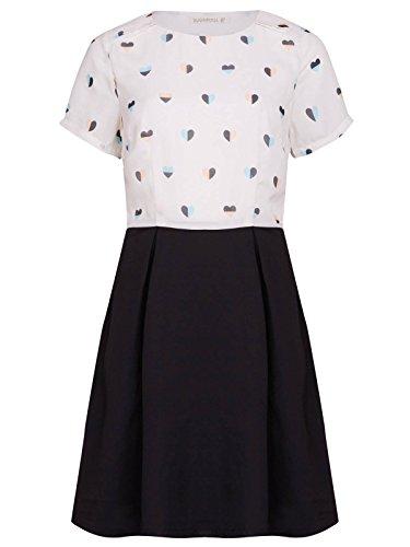 Sugarhill Boutique - Vestido - Camisa - Manga corta - para mujer Creme/Schwarz (Cream/Black)