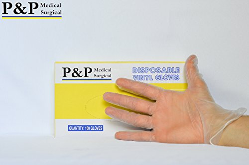 Vinyl Examination Disposable Gloves (2 Cases, 20 Boxes = ...