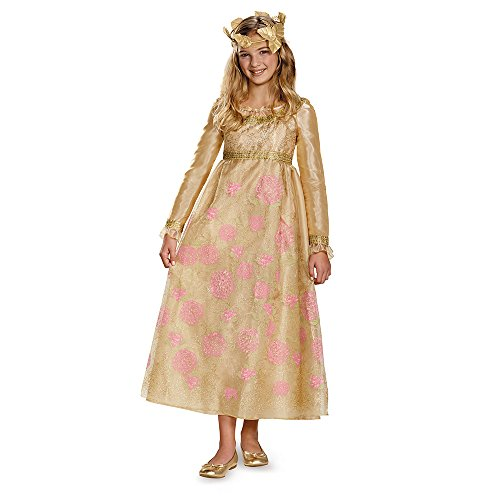 [Disguise Disney Maleficent Movie Aurora Coronation Gown Girls Prestige Costume, Small/4-6x] (Maleficent Aurora Prestige Child Costumes)