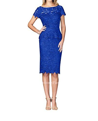 Standsamt Blau Royal Fesltichkleider Kleider Knielang Spitze Abendkleider Brautmutterkleider mia Brau Kurzes La Partykleider Etuikleider O10qw