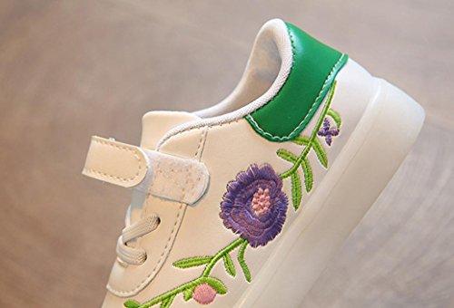 Und Mädchen Blumen Plattenschuhe Herbst Grün Rutschfeste Kinder LED Junge Turnschuhe Und Lässige Licht Mode Schuhe Frühling Schuhe TPulling q1tX88