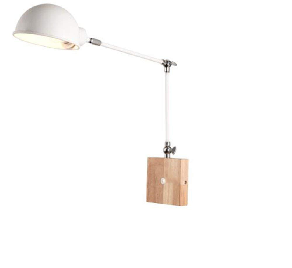 FXING Moderne, einfache kreative Wohnzimmer Schlafzimmer Nachttischlampe Studie Gang Lampe Metall Double arm Wandleuchte