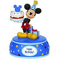 Precious Moments Mickey Mouse w/ Cake Resin Music Box