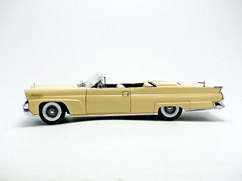1958 Lincoln Continental MKIII Open Convertible Champagne Platinum Edition 1/18 by Sunstar 4705