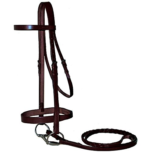 Paris Tack Classic Flat English Hunter Bridle with Laced Reins (English Bridle With Reins)