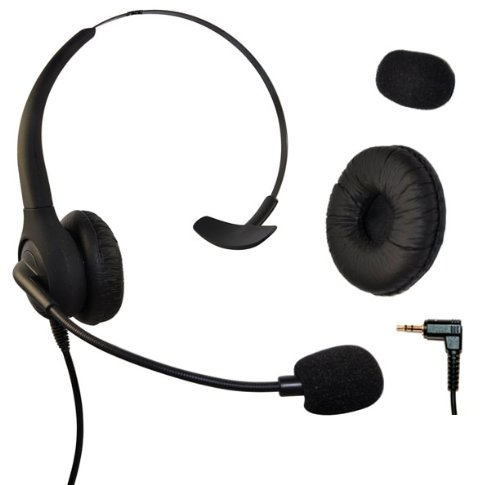 Headset Headphones With Volume + Mute Control for Cisco SPA Series Spa303 Spa504g and Other, Polycom Soundpoint Ip 320 330, Grandstream, Cortelco