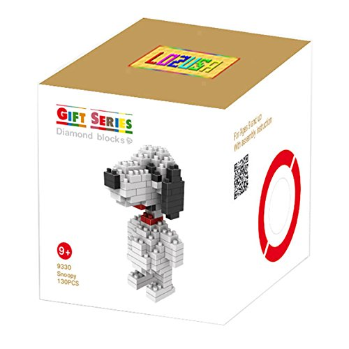 Costumed Characters (LOZUSA Dog Cartoon Character 130 PCS Diamond Block Mini Figure Hero Micro Blocks Construction Model, Micro-sized Building Set Parent-child Games Building Blocks Children's Educational Toys)