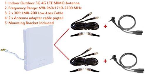 3G 4G LTEインドアアウトドアワイドバンドMIMOアンテナfor AT T 専門店 価格交渉OK送料無料  Sierraワイヤレス携帯電話回線770年代ac770sモバイルホットスポット Unite