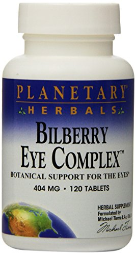 Planetary Herbals Bilberry Eye Complex Tablets, 120 Count