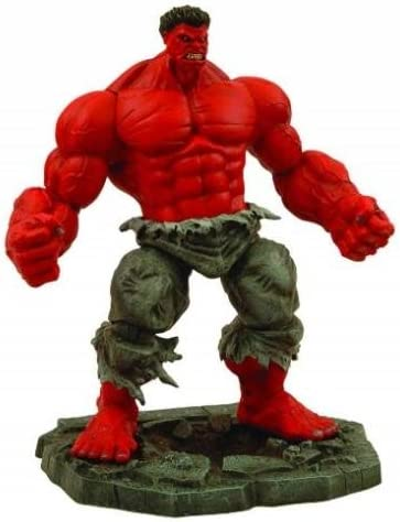 "Marvel Diamond Select INCREDIBLE RED HULK Avengers Legends Universe 10/"" Figure"