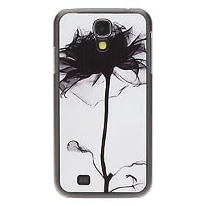 GONGXI-Moda Diseñado Tinta Modelo de flores Protevtive nuevo caso duro para Samsung i9500 Galaxy S4