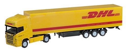 1/160 スカニア R TL ボックスセミトレーラー `DHL`(イエロー×レッド) 066266