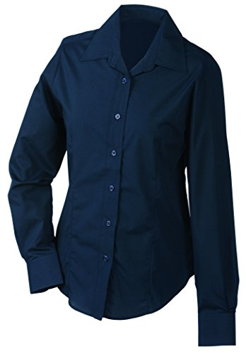 Sleeved Bleu Long JAMES Navy Ladies Blouse amp; Navy Femme NICHOLSON wpAIq7