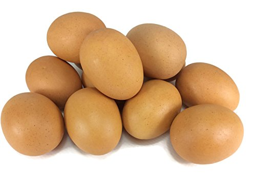 Egg Artificial Lifelike Food Set Simulation Faux Fake Chicken Egg 12 Pieces -