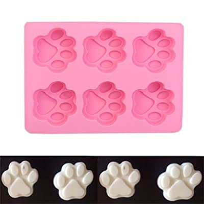 Alicenter(TM) Dog Footprint Silicone Mold Ice Cube Candy Chocolate Jelly Cake Soap Mould from Alicenter