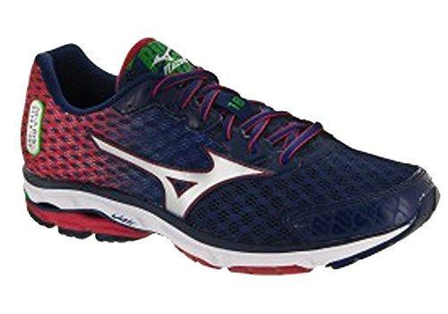 - Mizuno Wave Rider 18 Boston Marathon Women's Running (6 B(M) US, Boston Marathon Blue/Red)