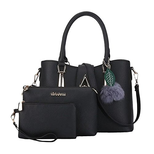PU épaule décor Messenger Noir en Cuir Bleu sac minimaliste Mme peluche qCFw8wxB