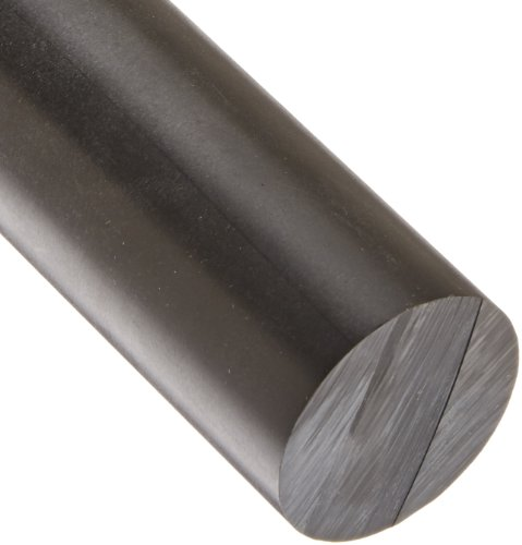 Acetal Round Rod, Opaque Black, Meets ASTM D6100, 2
