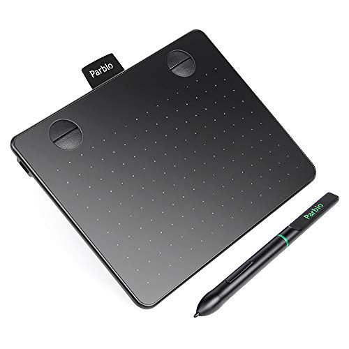 "Parblo A640 Drawing Tablet with 8192 Levels Battery-Free Stylus Pen, 7.2"" x 5.9"" Graphic Drawing Tablet for Digital Art Works, Drawing, Sketch, Design, Paint"