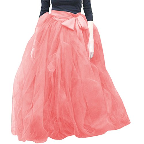 Wdpl Femme A-Line Tulle volants Tutu Robe Soire jupes Pink 019