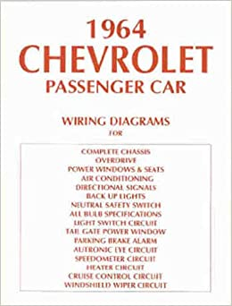 1964 chevrolet cars complete set of factory electrical wiring diagrams &  schematics guide 10 pages - includes: biscayne, bel air, impala, impala ss  and full