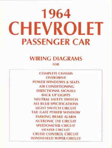 1964 impala wiper wiring diagram 1964 chevrolet cars complete set of factory electrical wiring  1964 chevrolet cars complete set of