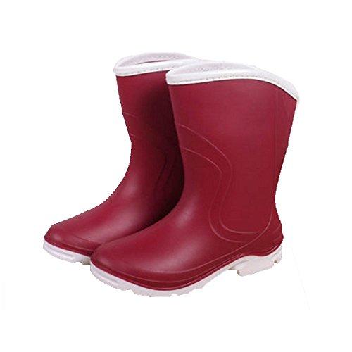 Sexy Botas de Lluvia Botas de Mujer Antideslizante Primavera y Verano Otoño e Invierno Zapatos a Prueba de Agua Botas de Moda de Moda Botas de Goma Caliente Red