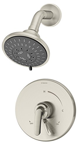 Symmons S-5501-STN Elm 1- Handle Shower Faucet System, Satin Nickel