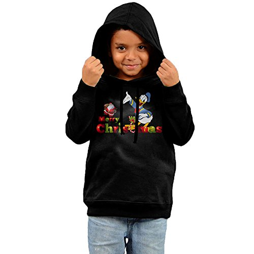 [Dora Donald Duck And Christmas Children's Sweatshirt Size 5-6 Toddler Black] (Donald Duck Costume Makeup)