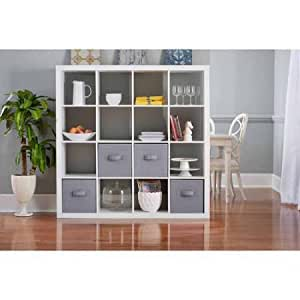 Better Homes and Gardens BH15-084-199-14 Wood Composite 16-Cube Organizer, White Color